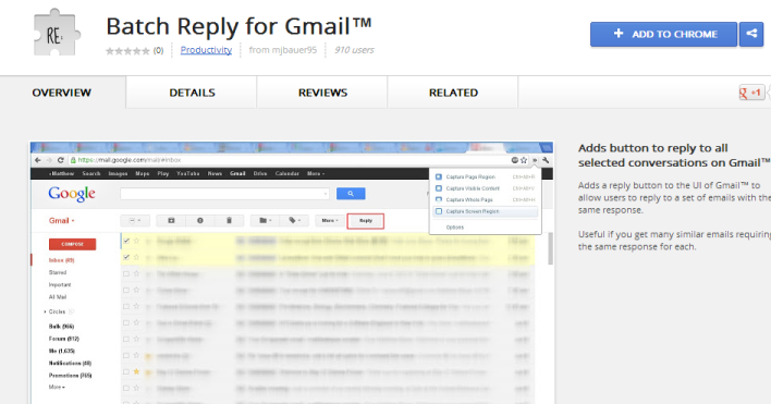 Sending Batch reply in Gmail