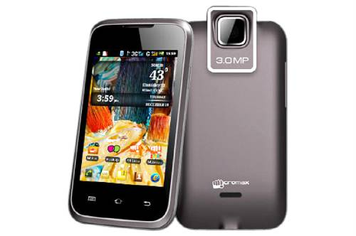 Micromax A54 Smarty 3.5, 3G, Android 2.3.5 Gingerbread Price in India