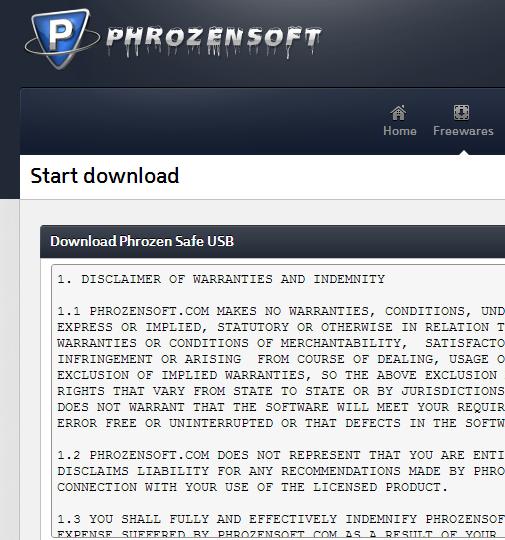 Phrozen Safe USB Tool