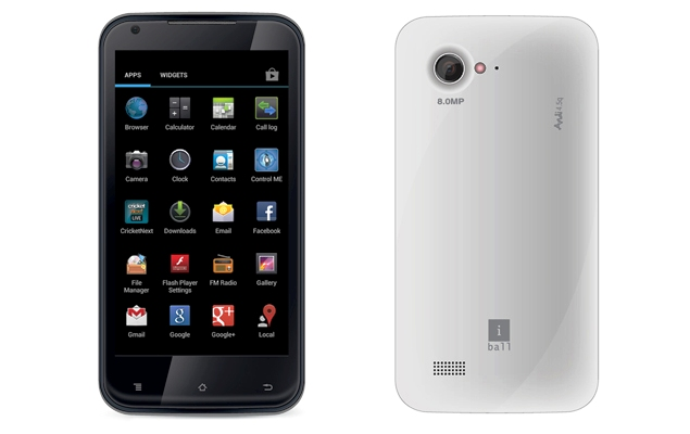iBall Andi 4.5 qHD, 4,5 inch, Android 4.1 Jelly Bean, 8.0 MP Price in India