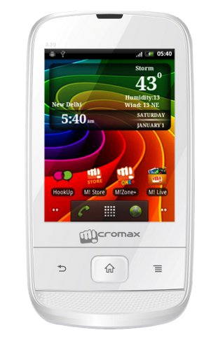 Micromax A30 Smarty 3.0, Android 2.3 Gingerbread, 3G Price in India