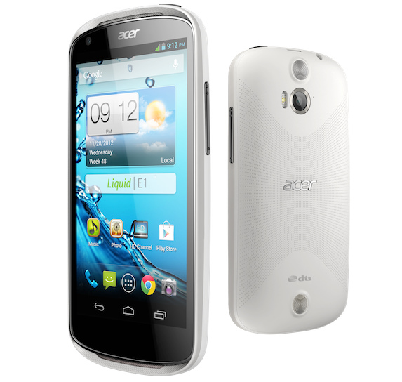 Acer Liquid E1, 4.5 inch Display, Android 4.1 Jelly Bean, 1GHz Dual Core, 5.0 MP Camera Price in India