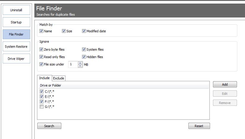 ccleaner 4.0 File Finder