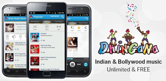 Dhingana Android App to listen hindi music