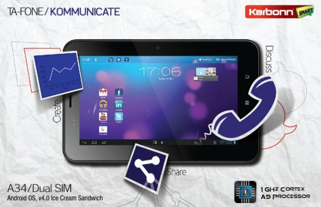Karbonn Smart Tab TA-FONE A34 Tablet