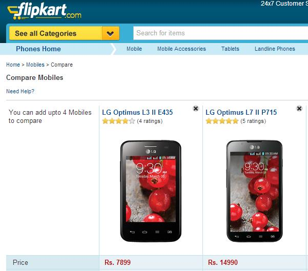 LG Optimus Mobiles are now available on Flipkart