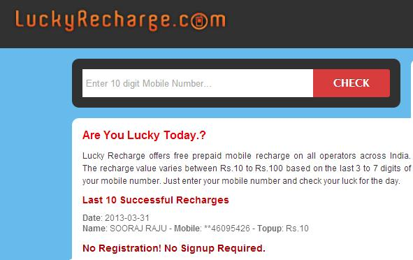 Top 5 Websites to get Free Mobile Recharge in India – Technokarak com