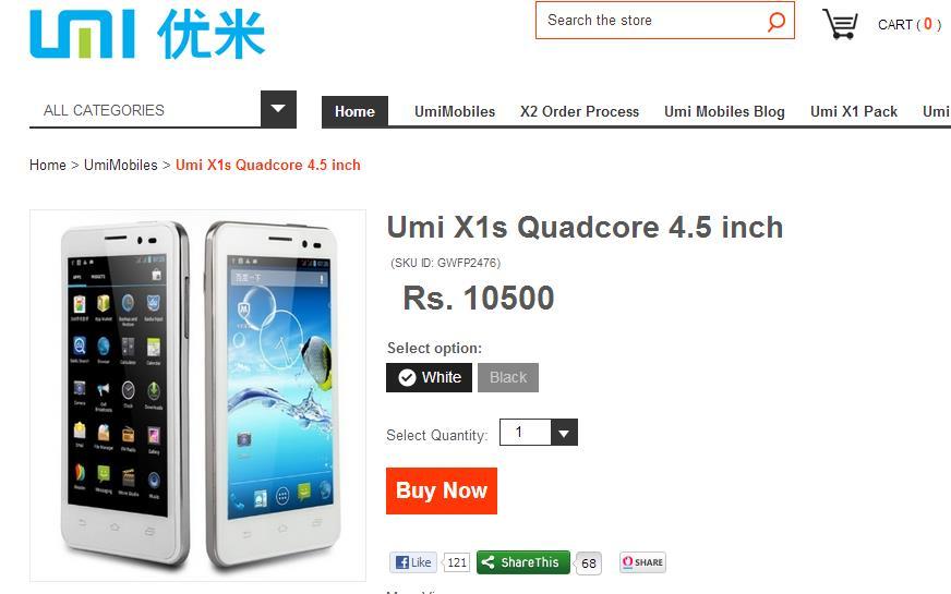UMI X1s Smartphone Buy Online