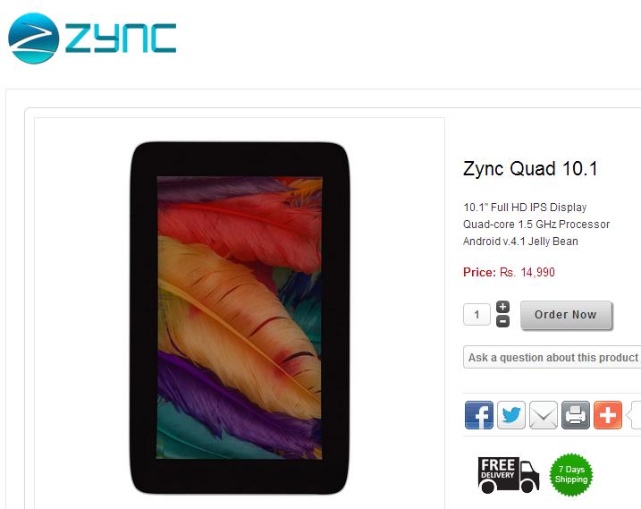 Zync Quad 10.1 Buy Online