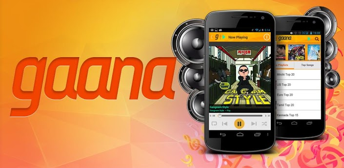 gaana Android App to listen hindi music