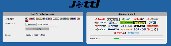 jotti malware scan - online website to scan file for virus