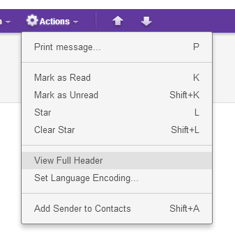 Yahoo Mail - Trace and Track sender of Email