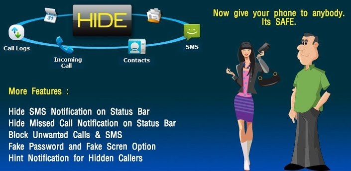 Hide SMS Text Contacts Calls