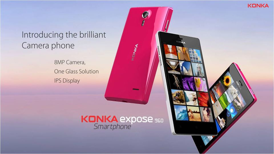 Konka Expose 960 Smartphone Features and Specifications