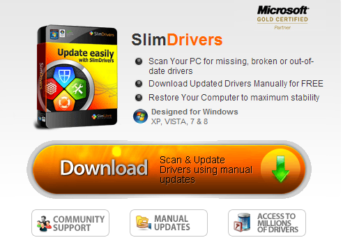 Slim Drivers Tool to update Drivers on Windows