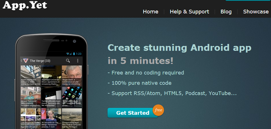 appyet create android apps without programming