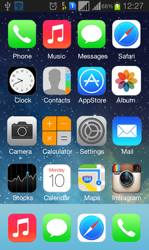 ios launcher wallpaper: Make Your Android Look Like IOS 7 With Best Themes And