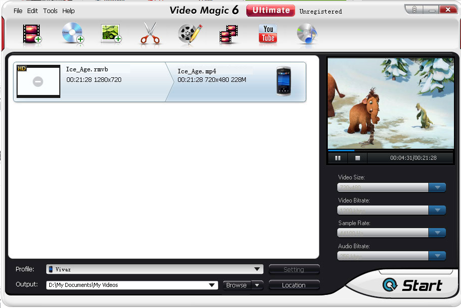 Blaze Video Magic Ultimate Video Converter