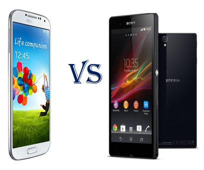 Sony Xperia Z vs Samsung Galaxy S4