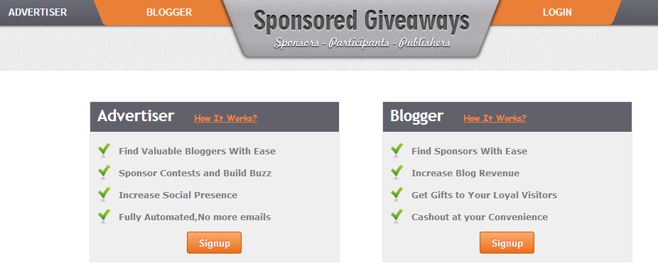 Earn Money from Sponsored Giveaways