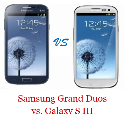 Samsung Grand Duos vs. Galaxy S III