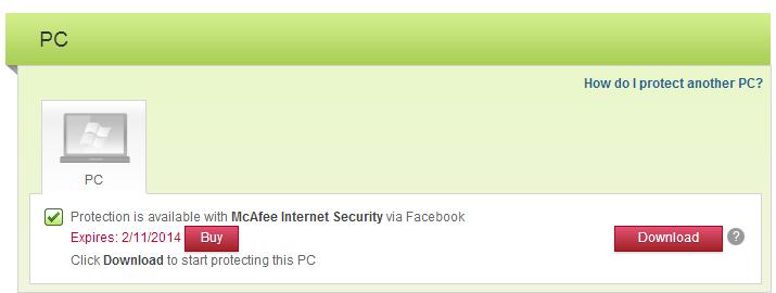 McAfee Internet Security 2013
