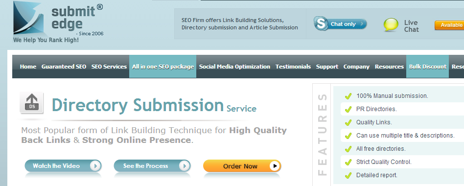 SubmitEdge - SEO Service for WordPress