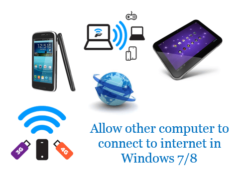 Allow other computer to connect to internet in Windows 7