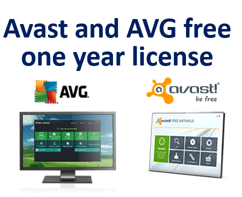 Download Avast and AVG free one year license