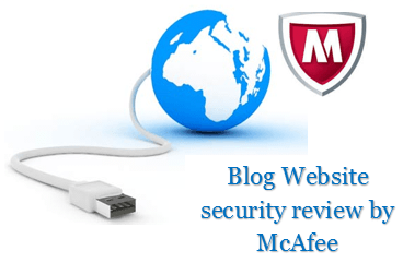Blog Website security review by McAfee