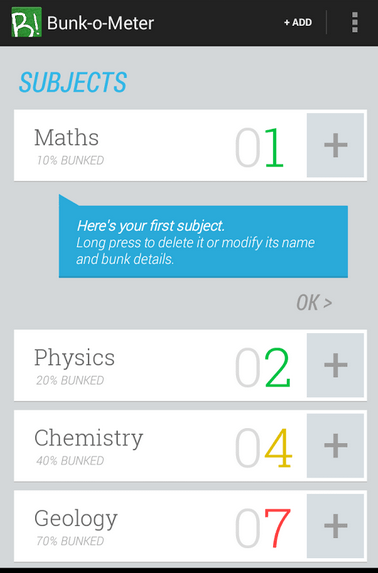 Bunk-o-meter Android App