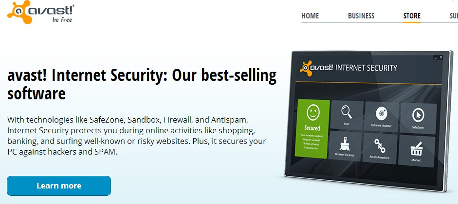 Download AVAST Antivirus Free with one year license