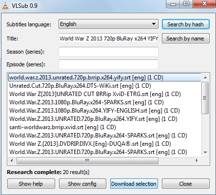 subtitles automatically in VLC Media Player