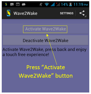 Wave2Wake Android App