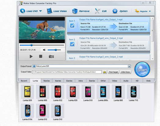WonderFox Nokia Video Converter Factory