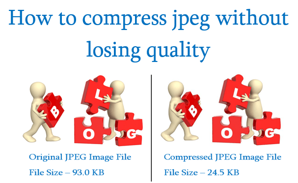 How to compress jpeg without losing quality