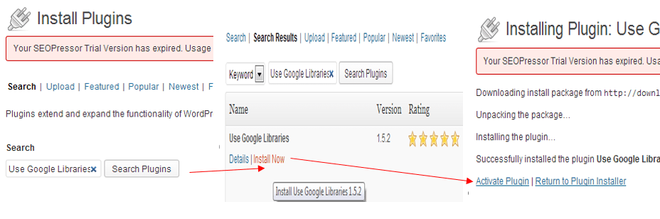 Use Google Libraries Plugin