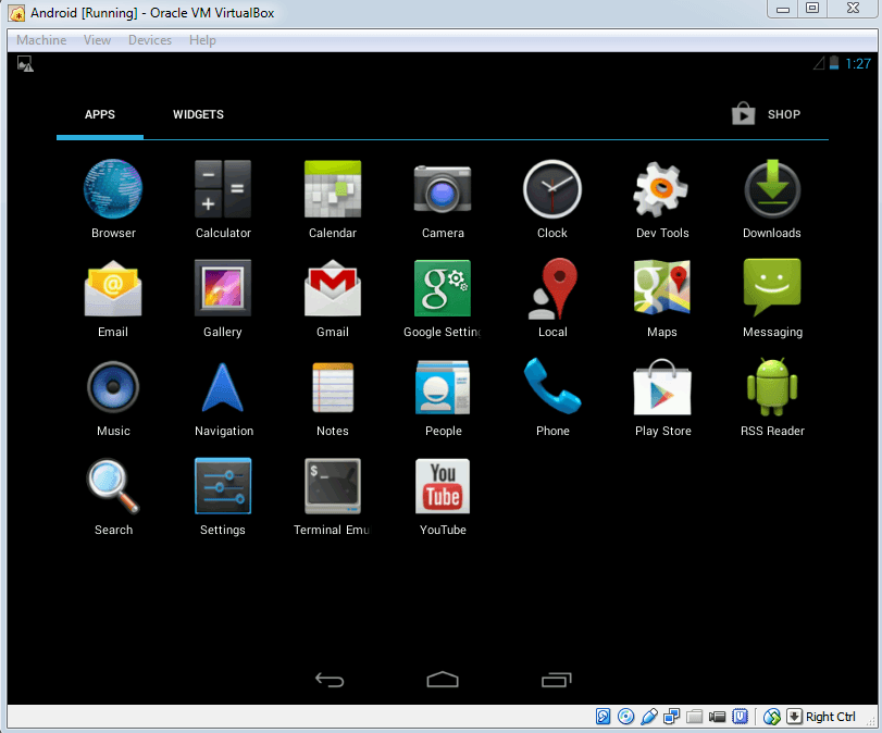 Android on win - 7