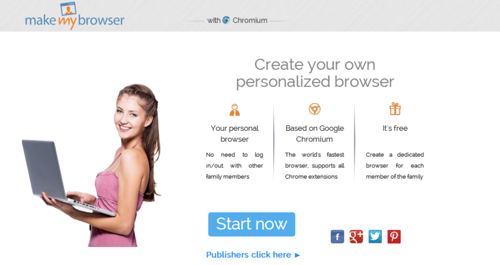 Create your own personalized web browser to get more blog Start my own website
