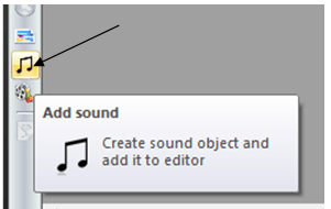 add sound in video