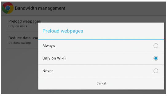 Preload Web Pages in Chrome