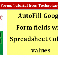 Google Form Auto Fill Values
