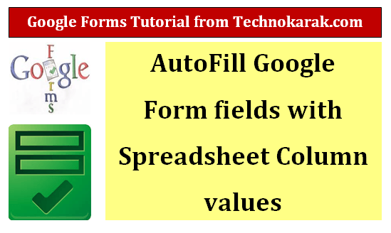 Google Form Auto Fill Values