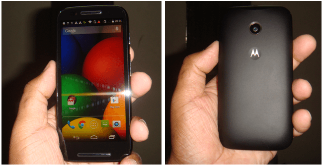 Motorola Moto E Front and Back Image