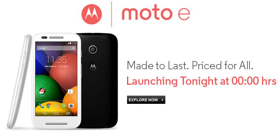 Motorola Moto E Price in India