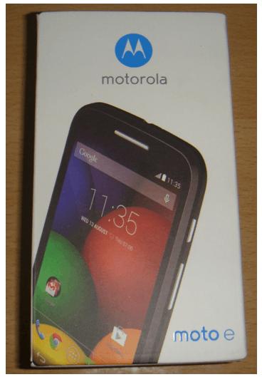 Motorola Moto E Unboxing