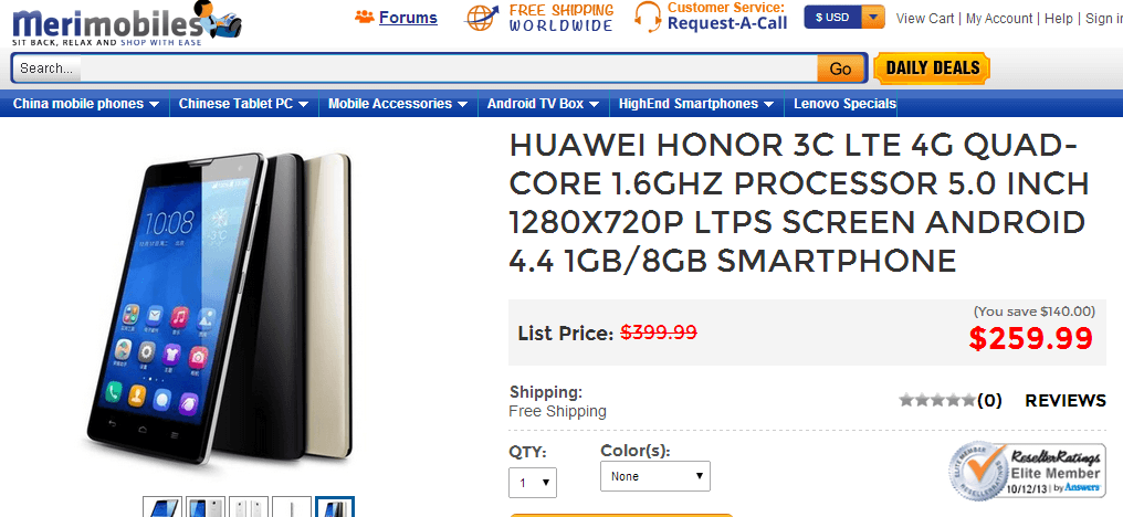 Huawei Honor 3C LTE 4G Mobile Price
