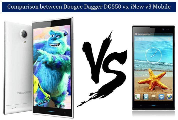 Doogee Dagger DG550 vs. iNew v3 Mobile