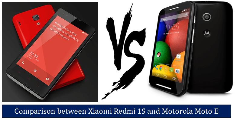 Xiaomi Redmi 1S vs Motorola Moto E