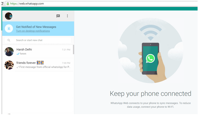Official WhatsApp for PC working